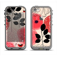 The Pink Nature Layered Pattern V1 Apple iPhone 5c LifeProof Fre Case Skin Set