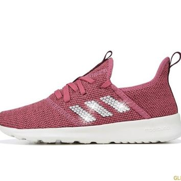 Adidas Cloudfoam Pure Sneaker + Crystals - Mauve/Maroon