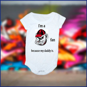 My Daddy is A Bulldogs Fan Baby Onesuit