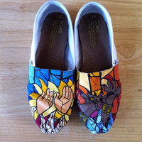 Custom, Hand Painted Shoes/TOMS.