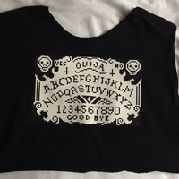 Ouija Board Top by CrookedYoungClothing on Etsy