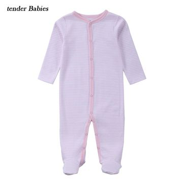 Autumn Spring Winter Baby Clothes Newborn Romper Long Sleeve Baby Girl Clothes Stripped Kid Outfits Jumpsuit Infant Clothing