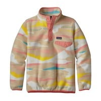 Patagonia Girls' Lightweight Synchilla® Snap-T® Pullover | Desertscape: Light Sesame