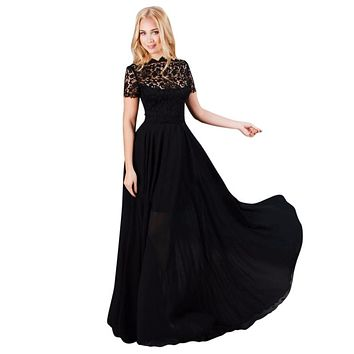 Sexy Lace Women Boho Maxi Club Dress Black Long Dress Party Bridesmaids Convertible Infinity Robe Longue Femme  3759