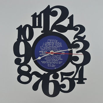 Vinyl Record Wall Clock (artist is Phil Collins)