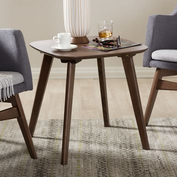 Baxton Studio Dahlia Mid-Century Modern Walnut Wood End Table Set of 1