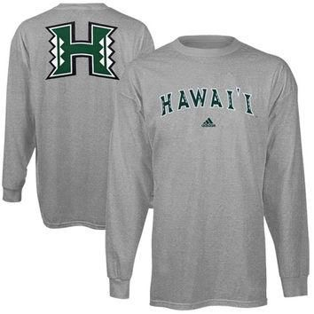 adidas Hawaii Warriors Relentless Long Sleeve T-Shirt - Ash