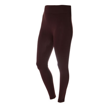 Opaque Full Length Leggings, Brown