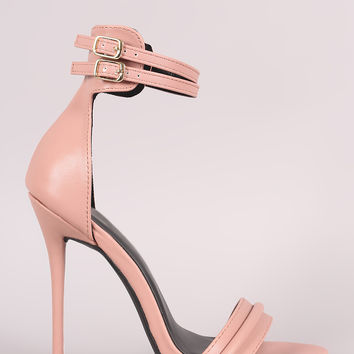 Double Ankle Strap Stiletto Dress Heel