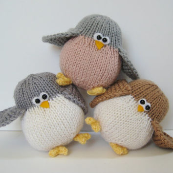 Juggle birds, nest and egg, toy birdie knitting patterns with instant download