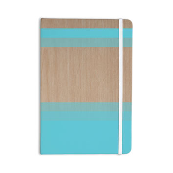 "Brittany Guarino ""Art Blue"" Aqua Wood Everything Notebook"