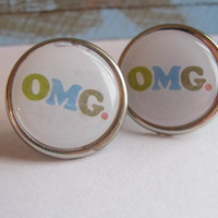 OMG Earring Posts Studs Stud Earrings Novelty Earrings Fun Studs Gifts for Her Gifts Under 10