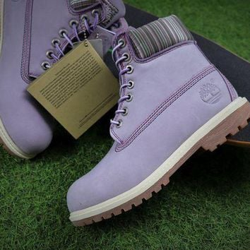 Timberland Icon 6 Classic Purple Grey Winter Outdoor Boots - Beauty Ticks
