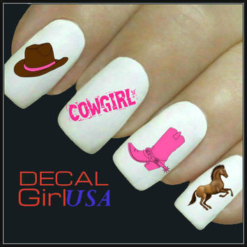 Cowgirl Nail Art Decals 32 Cowgirl Nail Decals