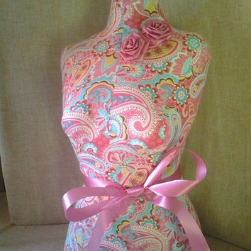 Paris Paisley Dress form jewelry making designs Shabby chic store display craft fair booth decor Boutique craft show