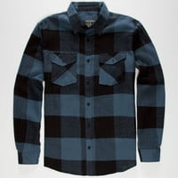 Straight Faded Jack Mens Flannel Shirt Blue  In Sizes