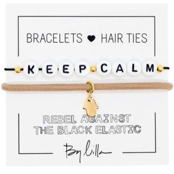 Keep Calm Elastic Hair Tie and Bracelet By Lilla