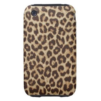 Leopard Print Fabric Apple iPhone 3 Cover