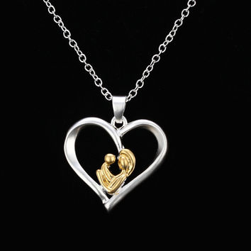 Best Gift for Mom Mothers Day Present Crystal Necklace Jewelry for Love Ones(Gift box) [9571280077]