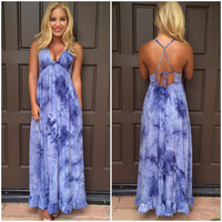 Blue Skies Tie Dye Maxi Dress
