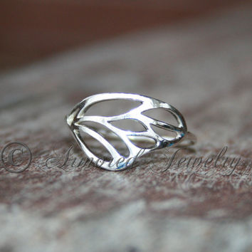 Butterfly wing ring - Sterling silver