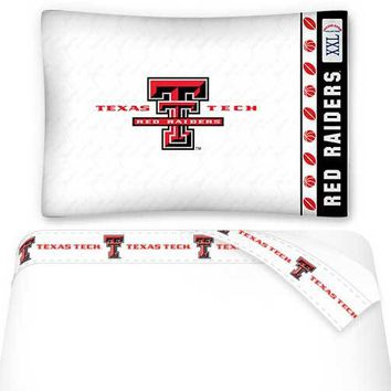 NCAA Texas Tech Red Raiders Bed Sheets Set College Bedding