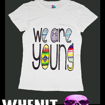 we are young exclusive hand print women t shirt 20417