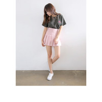 Knife Pleated Mini Skirt (Pink) | STYLENANDA EN