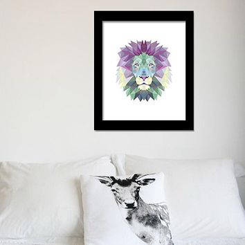 Waterproof Lion Pattern Canvas Art Print Poster Wall Pictures Canvas Painting Wall Art Home Decor 2 Size