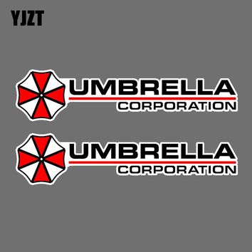 YJZT 12x2.8CM 2X Fashion UMBRELLA Resident Evil Decal JDM Retro-reflective Car Sticker C1-8007