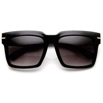 Womens Oversize Bold Square Frame Fashion Sunglasses