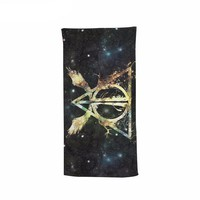 Deathly Hallows Symbol Beach Bath Towel