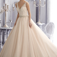 Mori Lee 2684 Sheer Back Ball Gown Wedding Dress