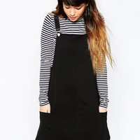 ASOS Casual Pinafore Dress in Ponte