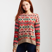Variegated Tribal Sweater