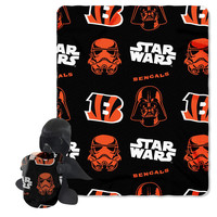Cincinnati Bengals NFL Star Wars Darth Vader Hugger & Fleece Blanket Throw Set