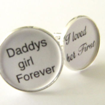 Father-of-the-Bride-Cufflinks-Daddy's Girl- I loved her first-Wedding,mens-jewelry,wedding cufflinks,father wedding gift