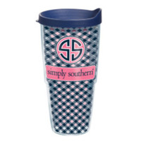 "Simply Southern ""Navy Patterned"" Tervis"