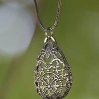 Lace silver necklace by FlawlessArt on Etsy