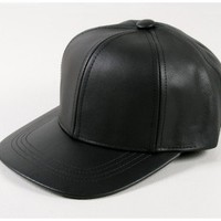 a.ok leather baseball cap Oak