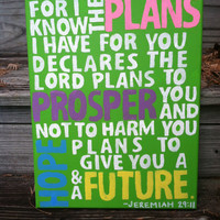 Original Canvas Painting - Jeremiah 29:11