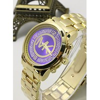 MK Fashion Elegant Watch Business Quartz Watch Movement Wrist Watch Purple I-YF-GZYFBY