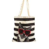 Graphic Canvas Tote