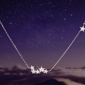 Womens Meteor Stars Pendant Necklace Gift-106