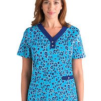 NRG by Barco Uniforms Women's V-Neck Print Top