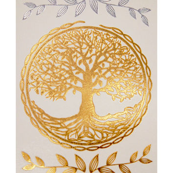 Tree Of Life Gold Metallic Temporarry Tattoo, Trending Jewelry On Etsy, Spiritual Jewelry, Gold Metallic Tattoos