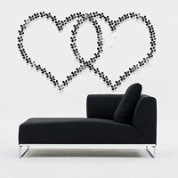 Amaonm® 12 Pcs 3d Beautiful Flowers Wall Decals Fashion Wall Decor Removable Decal Floral Wall Stickers Home Decorations Art Decor for Kids Room Bedroom Living Room Bathroom Windows (Black)