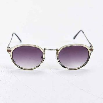 Jeepers Peepers Casper Metal Arm Square Sunglasses- Grey One