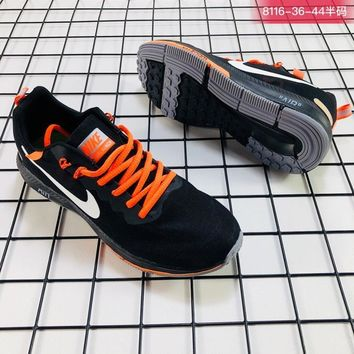 Nike Air Zoom Structure 21 x Off White Black White Orange Running Shoes - Best Deal Online