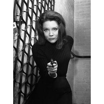Diana Rigg Avengers Gun poster Metal Sign Wall Art 8in x 12in
